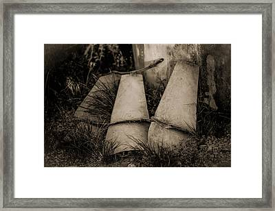 Pieces Of The Windmill Framed Print by Amber Kresge