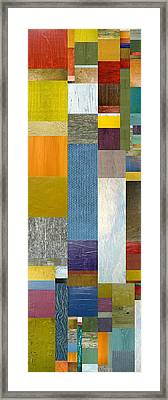 Pieces Parts Ll Framed Print by Michelle Calkins