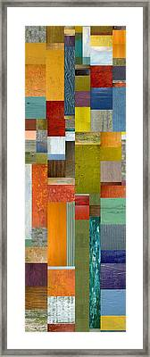 Pieces Parts Lll Framed Print by Michelle Calkins