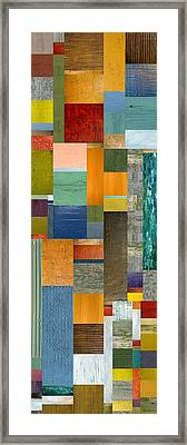 Pieces Parts V Framed Print by Michelle Calkins