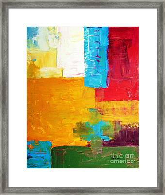 Pieces Framed Print by Venus
