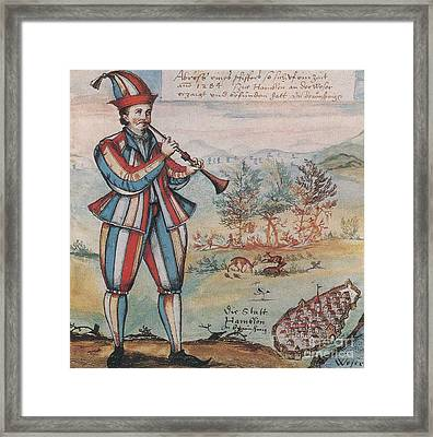 Pied Piper Of Hamelin, German Legend Framed Print by Photo Researchers