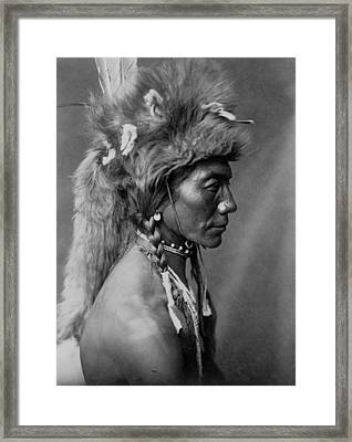 Piegan Indian Circa 1910 Framed Print by Aged Pixel