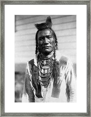 Piegan Indian Man Circa 1909 Framed Print by Aged Pixel