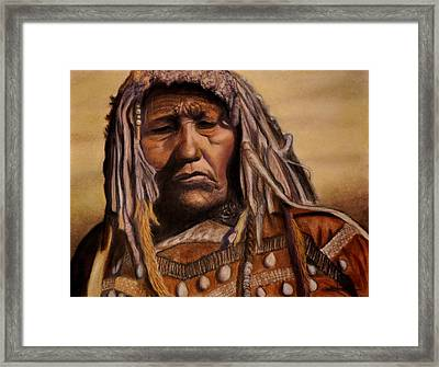Piegan Medicine Woman Framed Print by Wade Starr