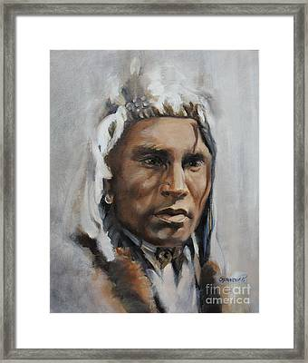 Piegan Warrior Portrait Framed Print