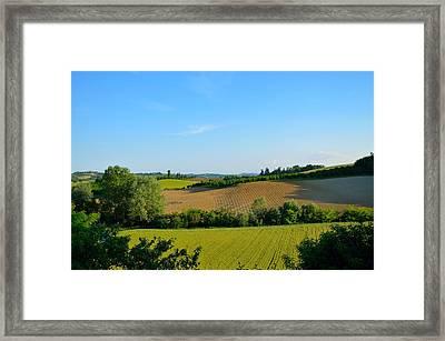 Piemont Hills Framed Print by Irene Carrea