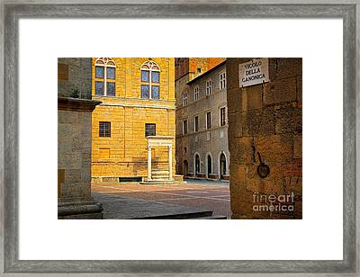 Pienza Buildings Framed Print by Inge Johnsson