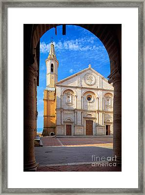 Pienza Duomo Framed Print by Inge Johnsson