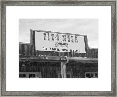 Pieoneer Pie Town New Mexico Framed Print by Dan Sproul