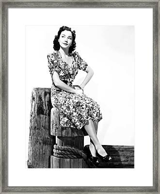 Pier 13, Lynn Bari,1940, Tm & Copyright Framed Print by Everett