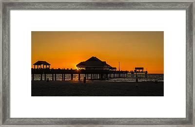 Pier 60 Sunset Framed Print