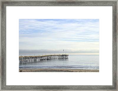 Pier Framed Print by Gandz Photography