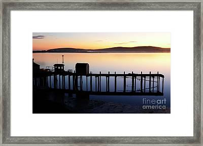 Pier At Bodega Bay California Framed Print