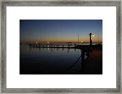 Framed Print featuring the photograph Pier At Chandlers Landing Rockwall Tx by Charles Beeler