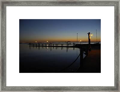 Pier At Chandlers Landing Rockwall Tx Framed Print