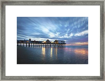 Pier At Dawn Framed Print by Eric Gendron