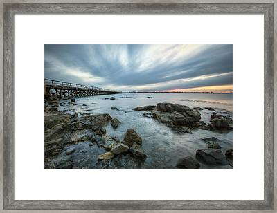 Pier At Dusk Framed Print by Eric Gendron