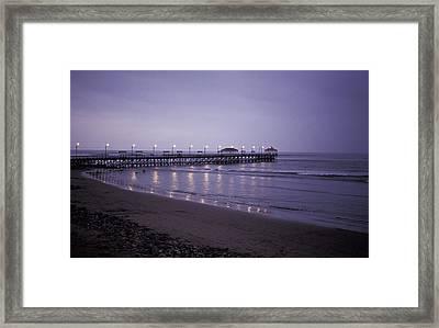 Pier At Dusk Framed Print
