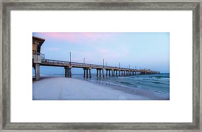 Pier At Gulf Shores Alabama Framed Print