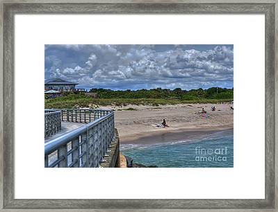 Pier At Sebastian Inlet Framed Print