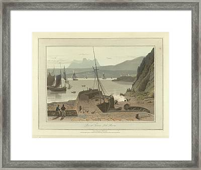 Pier At Tanera Framed Print by British Library