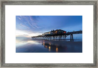 Pier At Twilight Framed Print