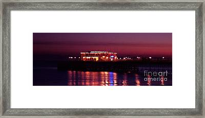 Pier By Night Framed Print by Mark Bowden