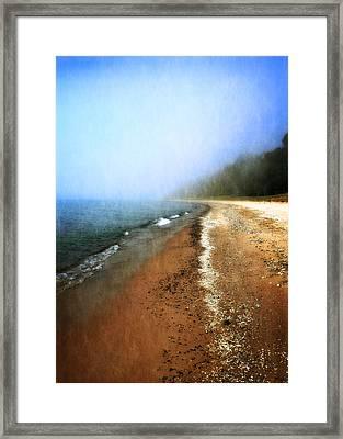 Pier Cove Beach Framed Print by Michelle Calkins