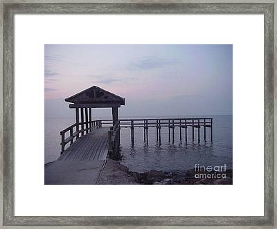 Pier Early Morning 1 Framed Print