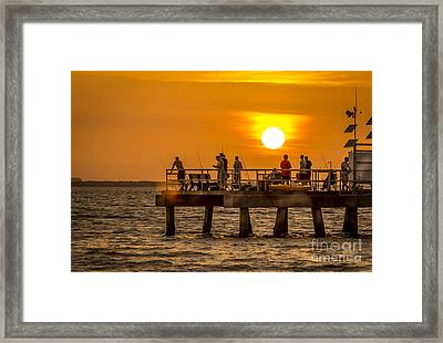 Pier Fishing Framed Print by Marvin Spates