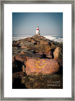 Framed Print featuring the photograph Pier Happiness by Mark David Zahn Photography