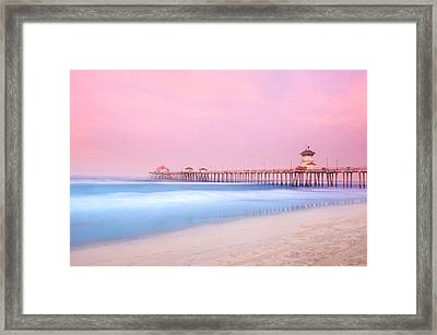 Pier In Early Morning Framed Print