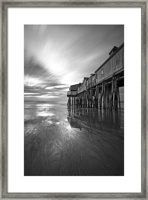 Pier In Monochrome Framed Print by Eric Gendron