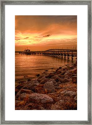 Pier In The Ocean Framed Print
