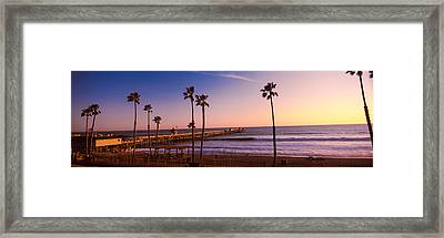 Pier In The Pacific Ocean, San Clemente Framed Print