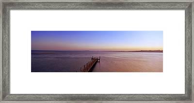 Pier In The Sea, Ras Um Sid, Sharm Framed Print