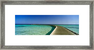 Pier In The Sea, Soma Bay, Hurghada Framed Print by Panoramic Images