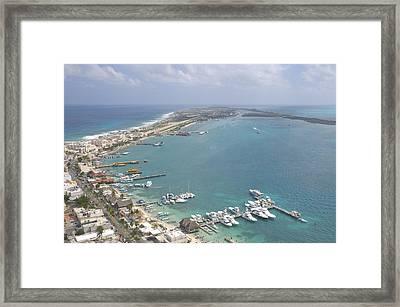 Pier, Isla Mujeres Framed Print