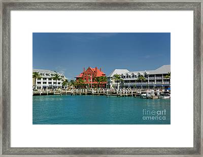 Pier Key West Florida Framed Print