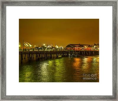 Pier Lights Framed Print
