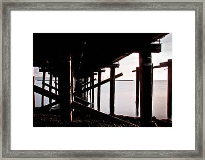 Pier Ocean And Angles Framed Print