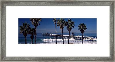 Pier Over An Ocean, San Clemente Pier Framed Print by Panoramic Images