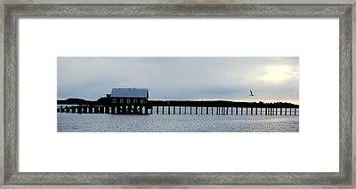 Pier Panorama Framed Print by Mamie Gunning