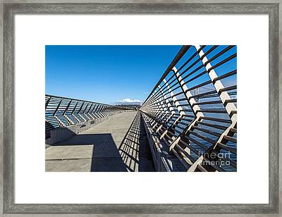 Framed Print featuring the photograph Pier Perspective by Kate Brown