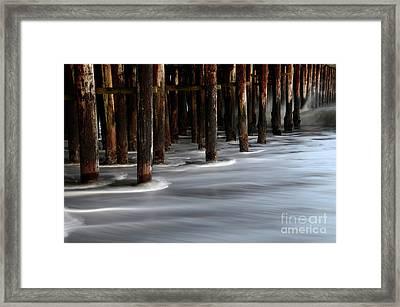 Pier Pilings Santa Cruz California 2 Framed Print by Bob Christopher