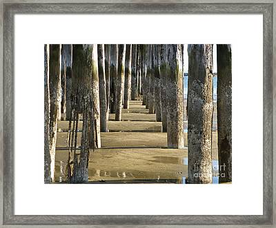 Framed Print featuring the photograph Pier Pressure by K L Kingston