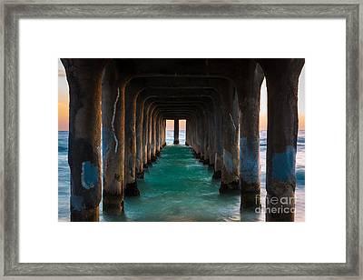 Pier Pylons Framed Print by Inge Johnsson