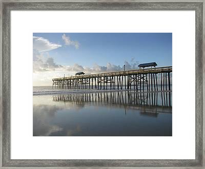 Pier Reflection Framed Print
