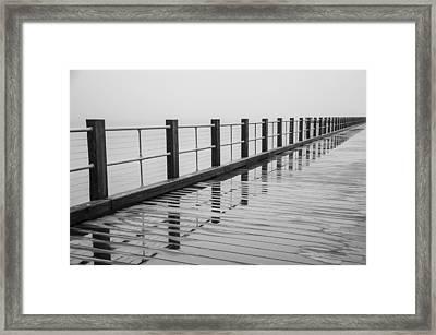 Pier Reflections Framed Print